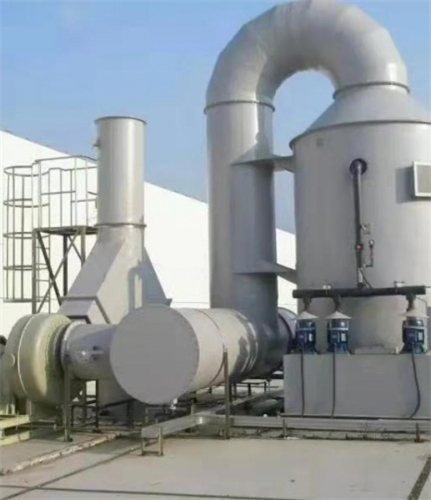 Exhaust gas treatment - washing tower